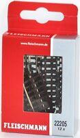 Fleischmann N 22205-S Gerades Gleis 50 mm (12 Stück) - NEU + OVP