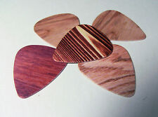 Wood effect Plectrums set of 3 Thin gauge teardrop Guitar Picks
