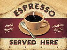 Espresso, Retro metal Sign/Plaque Wall vintage / Kitchen Gift / Coffee