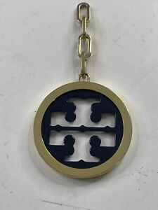 Tory Burch Gold/Navy Logo Keychain