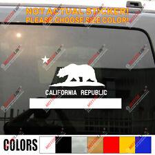 Flag of California Decal Sticker Cali Republic Bear Car Vinyl pick size color