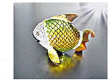 pesce, permutfarben SCRIGNO GIOIELLI,Contenitore Pillole,statuetta animale