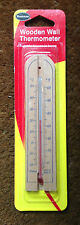 SMALL BRANNAN WOODEN WALL THERMOMETER - MADE IN ENGLAND  14/431/3