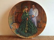 "Gone With the Wind collector's plate ""Scarlett's Green Dress"" Knowles 1984 mint!"