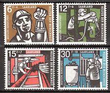 Germany / Saar - 1957 Welfare / Coal mining - Mi. 404-07 MNH