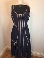 Fenn Wright Manson Lovely Ladies Size 12 Silk Linen Lined Dress, Wedding/Cruise