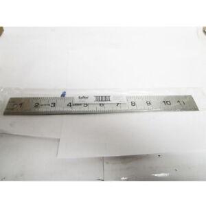 """LUFKIN 12"""" STEEL RULER 621FTN 1-PIECE PRECISION RULE GRADS 8THS, 16THS,"""