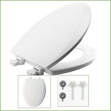 Toilet Seat Cover Elongated Closed Front Bathroom Stylish Design Lift-Off White