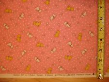 Lecien Retro 30's Child Smile Scotty Dogs Toss Pink COTTON FABRIC YD BTY Japan