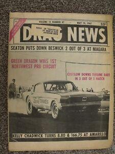 DRAG NEWS~5/19/1967~GREEN DRAGON WINS NW PRO CIRCUIT~COSTILOW DOWNS TURBINE DART