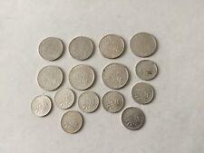 France lot de 15 pièces en argent de 1 F et 50 centimes années intéressantes TTB