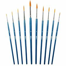Round Pointed Tip Paint Brushes - For Fine Painting and Detailing - Acrylic Oil