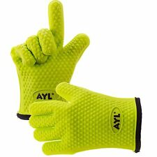 AYL Silicone Cooking Gloves – Heat Resistant Oven Mitt for Grilling, BBQ, Kit...