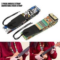 Guitare/ulele sangle acoustique réglable basse en cuir avec crochet T