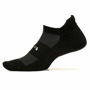 Feetures! - High Performance Cushion - No Show Tab - Black -, Black, Size Large