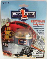 Basic Fun  Keychains Lionel Trains  miniature Santa Fe train dome