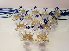 Prince 12 Pacifier Necklace Baby Shower Decoration Favors Prizes Game It's a Boy