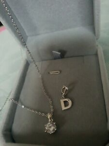"""MIMCO MODIFY CHARM """"D""""  STERLING SILVER 925 for Bracelet or necklace + NECKLACE"""