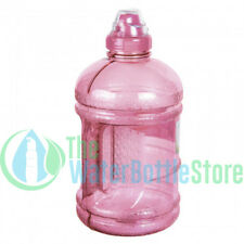 1/2 Half Gallon 64oz BpA Free Plastic Water Bottle w/ Sports Top Handle Pink New
