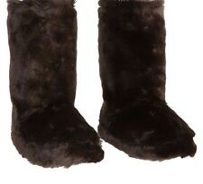 Pb Teen Fuzzy Brown Bear Slippers Nwt L