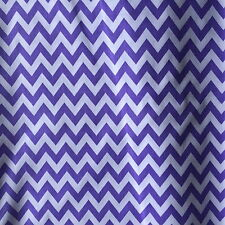 PolyCotton Craft Fabric Crazy Wild 6mm  ZIG ZAG / CHEVRON STRIPES in 15 Colours