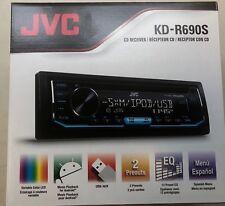 JVC KD-R690S Single DIN SiriusXM Ready In-Dash CD/AM/FM Car Stereo W USB KDR690