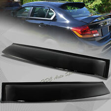 For 2006-2015 Honda Civic Sedan Black ABS Plastic Rear Window Roof Spoiler Visor