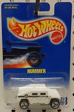 BLUE CARD WHITE POLICE HUMMER 188 DRUG UNIT 1991 1992  HW HOT WHEELS