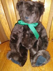 "The Vermont Teddy Bear Company 12"" Jointed Chocolate Brown Bear"