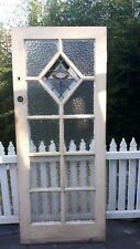 Vintage Deco 9 Panel Front Gallery Door with leadlight and arctic glass