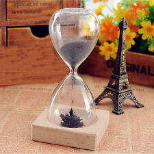 Magnet Hourglass Sand Timer Clock Glass European Style Home Desk Decor Xed