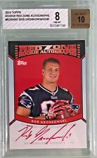 Rob Gronkowski 2010 Topps Red Zone Rookie Autograph /100 BGS 8 (10)