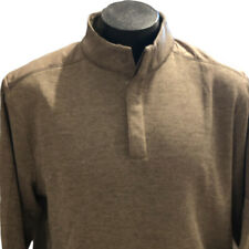 Greg Norman Golf Pull Over XL Mens Sweater Brown Long Sleeve Fleece Lined New