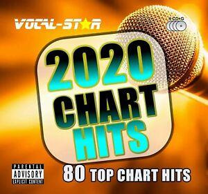 NEW 2020 KARAOKE POP CHART HITS 80 SONGS CD+G DISC SET - VOCAL-STAR - BEST 2020