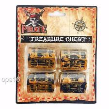 12 Mini Pirate Treasure Chest Boxes...Birthday Party...Favors...Cupcake Toppers