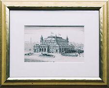 Architektur-Zeichnung Tuschfeder um 1920/1930: Historismus-Bau, Österrreich