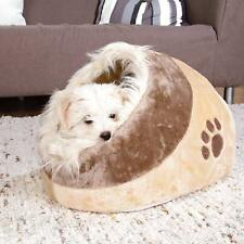 Trixie Minou Cuddly Cat/Dog Cave Bed - Beige/Brown Bed, Igloo,Fluffy, 35x26x41