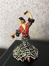 Barcino Spanish Flamenco Lady Dancer With Castanets Figurine 13 Cm