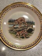 "Lenox Boehm ""Woodland Wildlife"" Bobcat Plate 1980 & Squirrel Plate 1979"