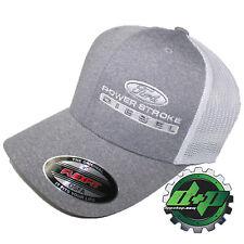 Ford Powerstroke hat ball cap fitted flex fit flexfit stretch diesel OSFA WHITE