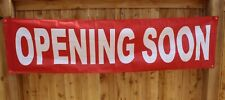 New Opening Soon Sign Now Open Coming Flag Big 2' x 8' feet Store Restaurant