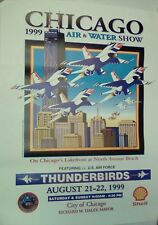 """Chicago Air & Water Show 1999 Poster 18"""" x 24"""""""