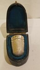 99p No Reserve Sterling Solid Silver Thimble C Horner CHESTER 1892 cased mint
