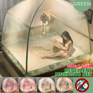Folding Freestand Bed Canopy Mosquito Net Tent Screen For King Queen Bed