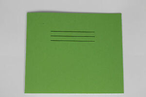 Squared Paper Green Notebook 10mm Squares 24 Page 138x165mm Pack Of 25