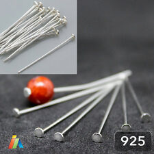 925 STERLING SILVER FLAT HEAD PINS JEWELLERY MAKING FINDINGS 0,65 WIRE 30 40 50