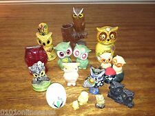 OWLEGION or Parliment of 15 Very Wise Owls Figurines