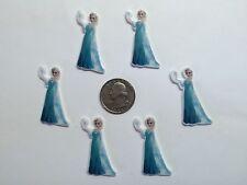 6 Pcs Lot Frozen Elsa Flatback Resin Cabochon Hair Bow Center Supply.