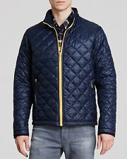 NWT Barbour Blue w/ contrasting Yellow XL 44-46 Nylon Poly quilted KELLEN jacket