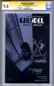 GRENDEL DEVIL CHILD #1 CGC 9.8 SS MATT WAGNER & TIM SALE (sketched front & back)